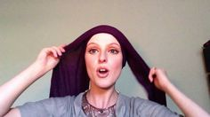 How to tie a headscarf with an infinity scarf