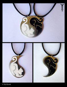 Yin Yang Cats by =TrollGirl