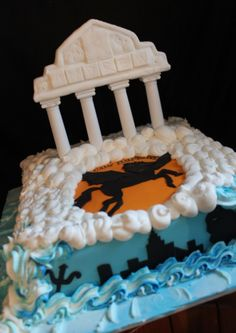 PERCY JACKSON CAKE! MY 14th BIRTHDAY IS GREEK MYTHOLOGY THEMED, AND I WANT THIS CAKE SOOOOOO BAD! :)