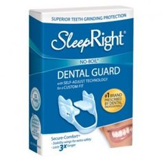SLEEP RIGHT Splintek Dental Teeth Mouth Night Guard. Can stop some people's snoring issue! It really works! Fibromyalgia Exercise, Jaw Clenching, Stronger Teeth, Dental Teeth, Mouth Guard, Oral Hygiene, Good Sleep, Stores, Dentistry