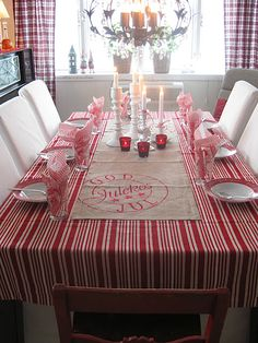 Are your table linens ready for Christmas? Need your tablecloths cleaned before or after the holidays? Call Rite Cleaners and they can help! Merry Christmas In Swedish, Norwegian Christmas, Scandinavian Christmas, Christmas And New Year, All Things Christmas, Winter Christmas, Christmas Time, Christmas Crafts, Christmas Decorations