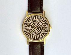Jahrgang aztekische Muster Watch, Damenuhr, Herrenuhr, Unisex, Geometrie, geometrische, Navajo, Analog, Geschenkidee
