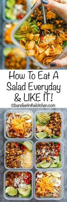 How To Eat Salad Everyday & LIKE IT! (aka the Fritos everyday diet!) get the recipes at barefeetinthekitchen.com college diet plan
