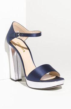 Prada Ankle Strap Satin Platform Sandal | Nordstrom - StyleSays