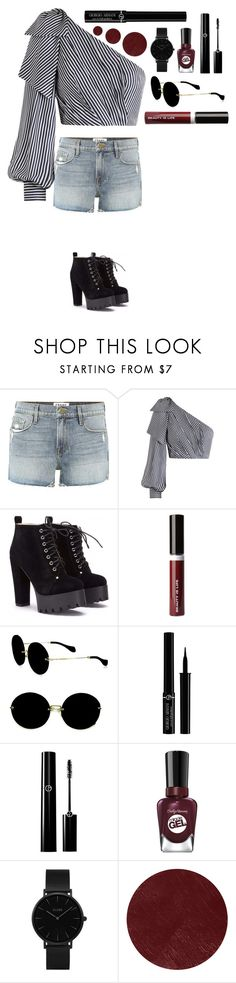 """""""Untitled #527"""" by dutchfashionlover ❤ liked on Polyvore featuring Frame, Zimmermann, Beauty Is Life, Miu Miu, Giorgio Armani, Sally Hansen, CLUSE and Burberry"""