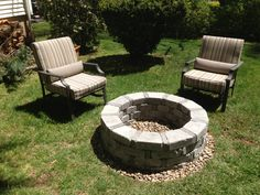 DYI fire pit, so easy