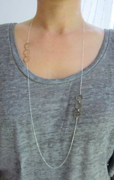 Honeycomb Long Necklace, Geometric Jewelry, Sterling Silver Necklace, Statement Necklace on Etsy, Bee Necklace, Simple Necklace, Pendant Necklace, Delicate Necklaces, Necklace Length Guide, Necklace Lengths, Collier Simple, Long Silver Necklace, Silver Engagement Rings