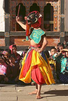 Tsechu (Bhutanese Festival) at the Lhuentse Dzong - Bhutan