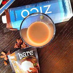 We're crazy for coconuts! #Zico coconut water and bare coconut chips - chocolate bliss paradise! #locoforcoco #chocolate #healthy