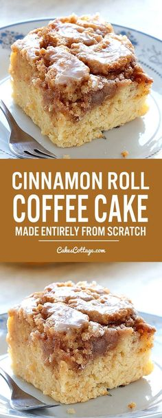 Easy Cinnamon Roll Coffee Cake is simple and quick recipe for delicious, homemad. - Easy Cinnamon Roll Coffee Cake is simple and quick recipe for delicious, homemade coffee cake from - Quick Recipes, Quick Easy Meals, Sweet Recipes, Healthy Recipes, Cheap Recipes, Healthy Food, Easy Simple Desserts Quick, Healthy Cooking, Easy Recipes For Two