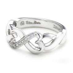 Tiffany & Co Riband Double Hearts Meet Ring Tiffany & Co