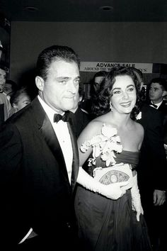 Elizabeth Taylor with her husband Mike Todd, 1956