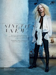 Frederikke Sofie stars in Saks Fifth Avenue's fall catalog