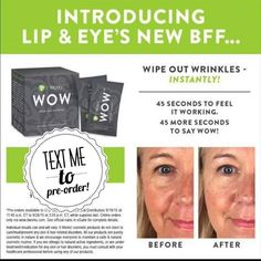 Look at this  They just released this new product to loyal customers and team members!!   Can't wait to try it! Goodbye wrinkles! Works in 90 seconds! Yes please!  Text me to order 973-479-9841 #hotmomma #skincare #amazing #botanical #natural #skin #spa #salon #salonupsell http://ift.tt/1YpoFMt