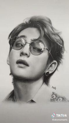 Kpop Drawings, Pencil Art Drawings, Taehyung Fanart, Bts Taehyung, Amazing Drawings, Realistic Drawings, Eiffel Tower Photography, Pop Art, Bts Playlist