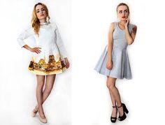 Eleganckie sukienki na wyjątkowe okazje #mokujin #clothing #fashion #moda #gold #white #dress #trend #trends #dressparty
