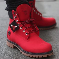 There are 2 tips to buy shoes, red, timberlands, boots, chicago bulls. Tims Boots, Timberland Boots Outfit, Timberland Mens, Shoe Boots, Timberlands, Timbaland Boots, Mens Work Shoes, Winter Boots Outfits, Nike Air Shoes