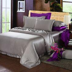 22 Momme Silk Sheets Satin Bedding, Duvet Bedding, Bedding Sets, Silk Sheets, Flat Sheets, King Size Duvet Covers, Beds Online, Queen, Quartos
