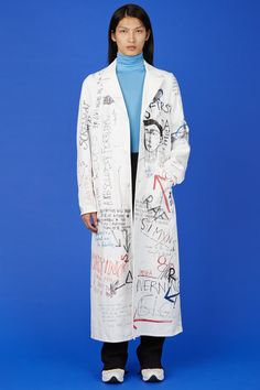 Raf Simons handwritten coat