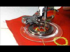 Como usar o calcador flor em sua máquina de costura - YouTube