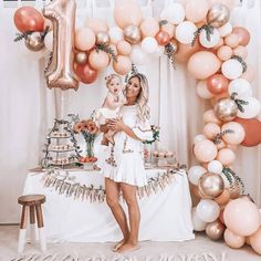 Birthday Decorations Discover Rose Gold Balloon Garland Kit // Rose Gold Balloon Arch / First Birthday Balloon Arch /Wedding Backdrop/Party Decoration/ Blush/ Rose Gold First Birthday Balloons, 1st Birthday Party For Girls, 1st Birthday Girl Decorations, 1 Year Birthday, Elegant Birthday Party, Baby Birthday Themes, First Birthday Outfit Girl, Birthday Garland, Birthday Goals