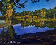 Medium original oil painting on 16 x 20 canvas by EileenDeSantis