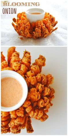 Onion Flavorful, crispy blooming onion just like the ones we get in the restaurants.Flavorful, crispy blooming onion just like the ones we get in the restaurants. Appetizer Recipes, Snack Recipes, Cooking Recipes, Healthy Recipes, Tapas Recipes, Tofu Recipes, Copycat Recipes, Vegetarian Recipes, Onions