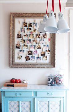 Offre un moodboard personnalisé pour la Saint Valentin.  Offer an custom moodboard for Valentine's Day Polaroid Decoration, Decoration Photo, Polaroid Wall, Home Staging, Photo Mural, Photo Wall, Diy Photo, Diy Room Decor, Wall Decor