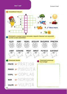 Clasa pregatitoare : Comunicare in limba romana - Clasa Pregatitoare Math For Kids, Activities For Kids, Math School, Math 2, Kids Education, Adult Coloring Pages, Thing 1, Alphabet, Homeschool