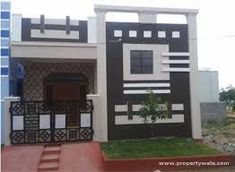 Front Elevation Of Independent House Joy Studio Design House Front Wall Design, Single Floor House Design, Exterior Wall Design, House Outside Design, Village House Design, Small House Design, Facade Design, House Floor, Independent House
