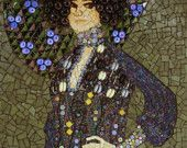 Fashion at its Finest... Vintage Fashion is Fresh Today...  Emilie in Glass -- print from original mosaic (available with or without mat)