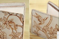 bitlleter de cuir pirogravat / billetero de cuero pirograbado / pyrography leather wallet