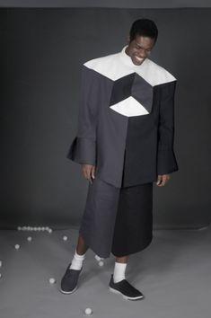Geometry Trompe l& Style Phantasm Lego Tetris Optical Illus . Origami Fashion, 3d Fashion, Fashion Details, Fashion Show, Fashion Looks, Fashion Design, Moda Origami, Geometric Fashion, Illusion Dress