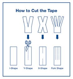 Taping technique is the key to successful application!