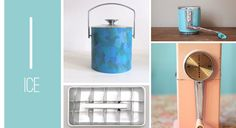ice bucket, wall mounted ice crusher, ice cube tray, pink ice crusher