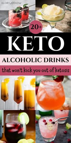 Are you allowed alcohol on the keto diet? Learn what alcohol is keto-friendly and the best keto-approved alcoholic drinks. best keto cocktails | low carb cocktails | low carb recipes | keto recipes | keto-approved cocktails | alcohol on keto | keto alcohol drinks | easy keto cocktails | best keto drinks to order at the bar | weight loss tips | low carb drinks that won't kick you out of ketosis | what is the lowest carb alcohol | can I drink red wine on keto | #keto #ketodrinks #ketococktails Low Carb Cocktails, Healthy Cocktails, Diet Drinks, Easy Drink Recipes, Low Carb Recipes, Keto On A Budget, Keto Drink, Keto Diet For Beginners, Ketogenic Diet