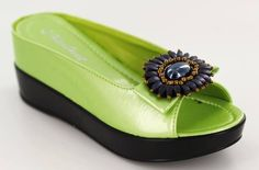 Thelma Sandal in Lime Green - Available at a Shoe Party Near You!