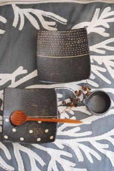"""Takasu Aiko page de détails des produits de base des """"plats carrés (polka-dot)."""""""