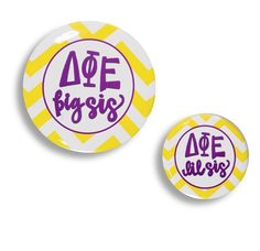 Delta Phi Epsilon Big/Little Pin Set. www.sassysorority.com. #biglittle #big #little #lil #gbig #bigsis #lilsis #dphie  #sassysorority #sororitypins #chevron #deltaphiepsilon #unicorn