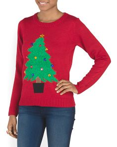 Festive Christmas Tree Sweater