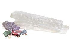 CLEANSING Charging Selenite Wand | Crystal Cactus