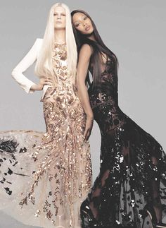 CESPINS❤naomi campbell and kristen mcmenamy at roberto cavalli spring/summer 2012 campaign.