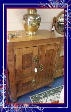 Solid Oak Ice Box $599