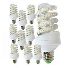 10 db 9 W energiatakarékos spirál led fénycső - MELEG ÉS HIDEGFEHÉR