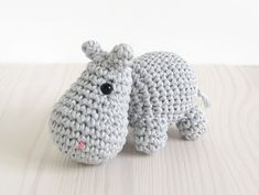 With this pattern by Kristi Tullus you will lear how to knit a Small Hippo step by step. It is an easy tutorial about hippo to knit with crochet or tricot. Crochet Hippo, Crochet Amigurumi Free Patterns, Crochet Animal Patterns, Stuffed Animal Patterns, Crochet Dolls, Crochet Baby, Free Crochet, Crochet Animals, Stuffed Animals