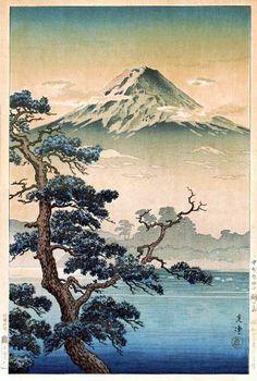 hanga gallery . . . torii gallery: Yoshidaguchi, Unoshima by Tsuchiya Koitsu
