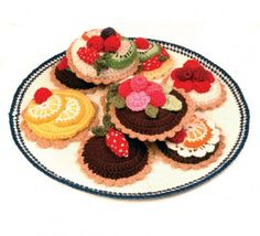 Slices of Beauty...: Monday Love...Crocheted Food Illustrations