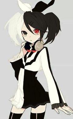 Danganronpa x Vocaloid - Kagamine Rin (Meltdown) Anime Neko, Kawaii Anime Girl, Cool Anime Girl, Fanarts Anime, Anime Art Girl, Manga Anime, Danganronpa Monokuma, Human Monokuma, Danganronpa Characters