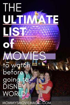 Disney World Vacation Planning, Disney World Parks, Walt Disney World Vacations, World Movies, Movie Themes, Disney Tips, Movie List, Disney Movies, Movies To Watch