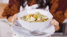 Few meals are more comforting than classic chicken noodle soup. Try this recipe from Katie Lee the next time you're in need.